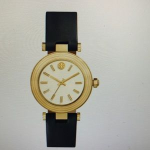 TORY BURCH CLASSIC T LEATHER STRAP LEATHER WATCH